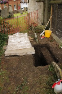 The next step was to start work on the footings
