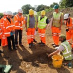 A grave discovered at Kingsmead Quarry