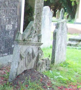 Before restoration. Much of the stone was below ground