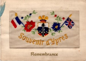 Jim sent this card from Ypres to his sister Eleanor