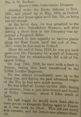 Burfoot article DPM Feb 1919