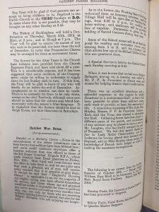 Datchet Parish Magazine, December 1914