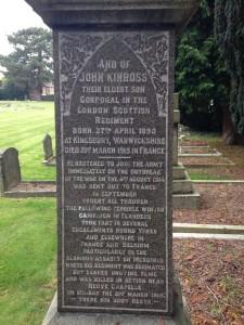 The memorial to John Kinross