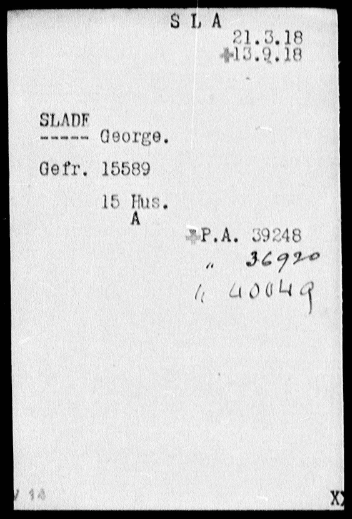 Slade, Red Cross card