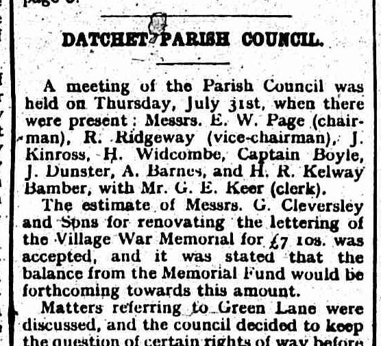 Slough Observer 9 August 1924