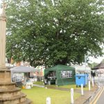 The DVS stall was positioned between Queen Victoria's Golden Jubilee oak tree and the Diamond Jubilee Cross