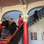 A splendid staircase leads from the hall to the upper levels