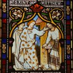 The St Peter and St Matthew window, by O'Connor, was dedicated to Prince Albert and funded by Datchet residents