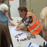 Afterwards we were shown some of the recent finds of flint and pottery...