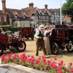 With the entrants dressed in period costume, it seemed as if the whole village had stepped back in time