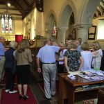 Church warden Jack Nicol and his wife Wendy kindly showed the group around