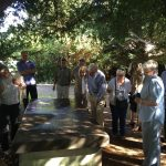 Outside, the group visited the tomb of Richard Cox who developed Cox's Orange Pippin apples