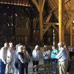 Justine Bayley, Hon Sec of the Friends of the Barn, showed the DVS group around