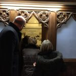 The group was invited to visit the vestry under the tower