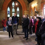 Janet Kennish explains the history of the chapel and its stained glass windows