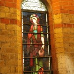 The 'Martha' window by Morris & Co is a Burne-Jones design
