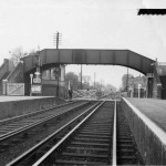 1960s, track, footbridge, station and signal box