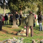 A tour of the WWI graves and memorials in the cemetery