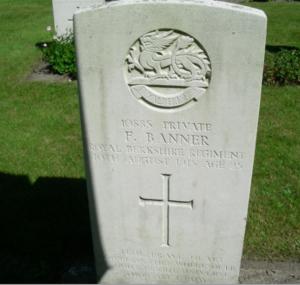 Frank Banner's gravestone
