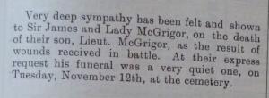 McGrigor, Datchet Parish magazine