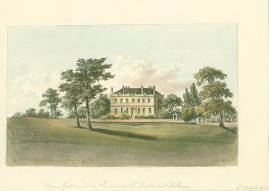 Upper Gatton House, watercolour by John Hassell, c1822
