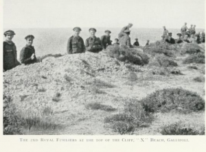 The 2nd Fusiliers land in Gallipoli