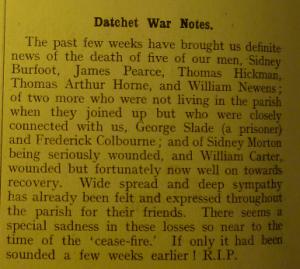 Slade Datchet Parish Magazine