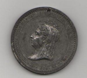 Queen Victoria's Jubilee medal reverse