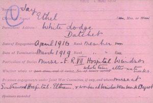 Ethel Jay Red Cross 1