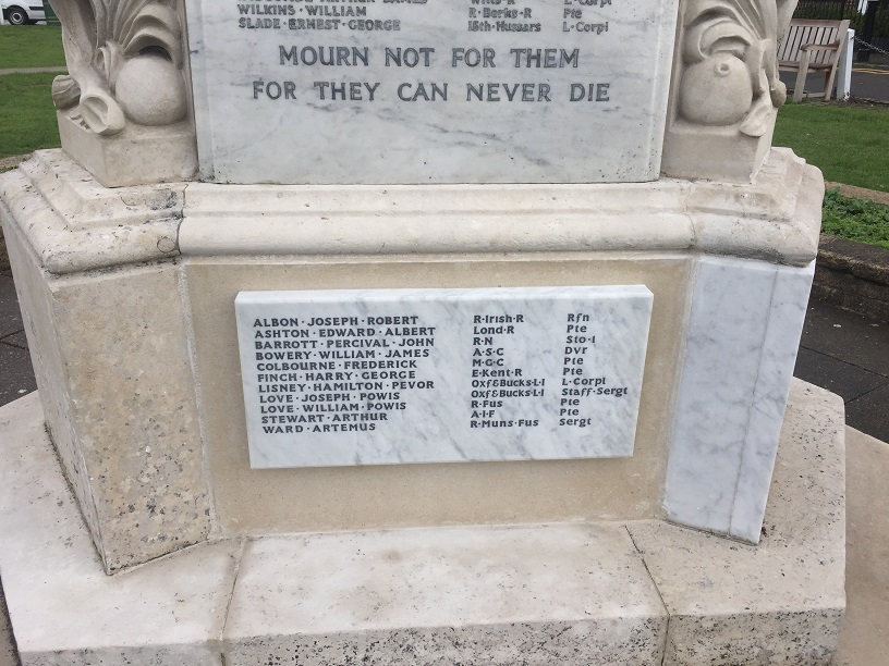 WWI soldiers' names added to memorial