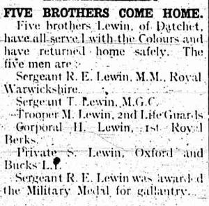 8 March 1919, Slough Eton & Windsor Observer