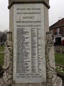 War Memorial List