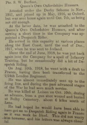 Burfoot article DPM Feb 1919