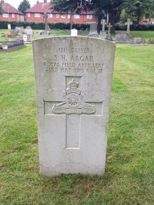 Stephen Argar's War Commission grave