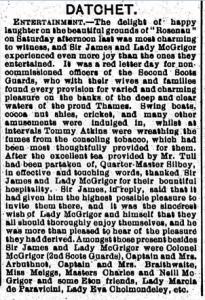 Entertainment at Rosenau, July 1910