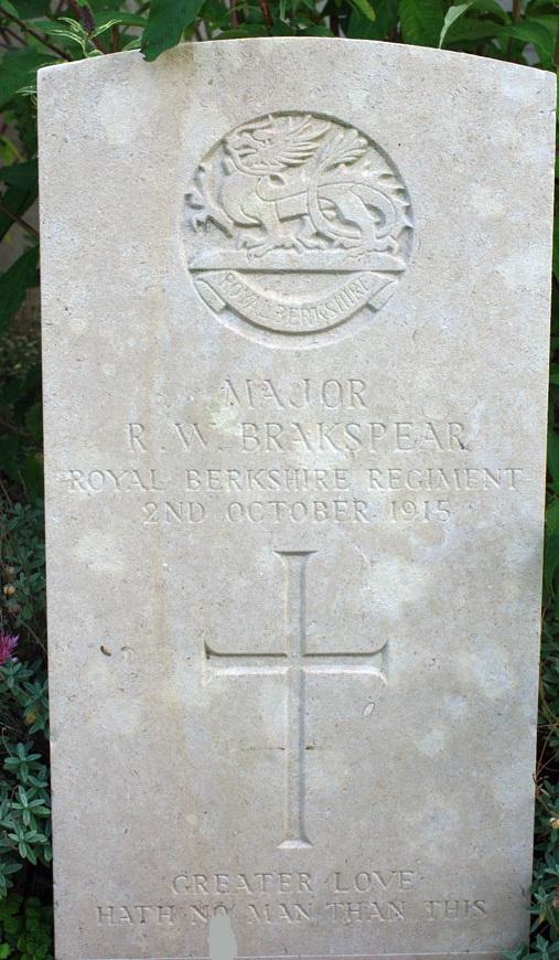 Brakspear's gravestone