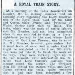 Royal Train Story